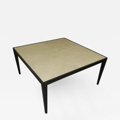 Ebonized Ostrich Top Coffee Table