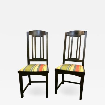 Ebony Pace Modern Collection Dining Chairs Set of 8 Slat Back
