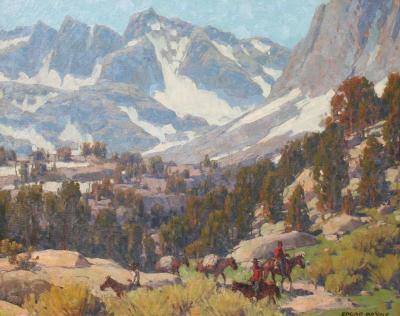 Edgar Alwin Payne The Pack Train Sierra Grande