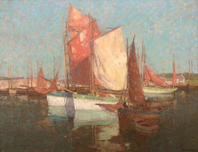 Edgar Alwin Payne Waterfront Concarneau