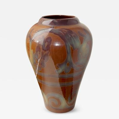 Edgar Bockman Extraordinary Vase with Stylized Flora Possibly by Edgar Bockman for H gan s