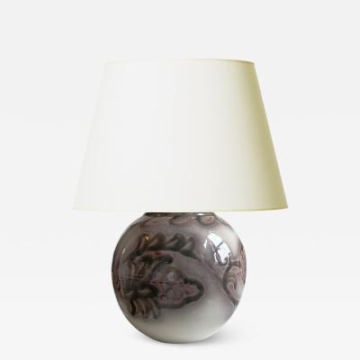 Edgar Bockman Table Lamp with Strawberry Ornaments by Edgar Bockman
