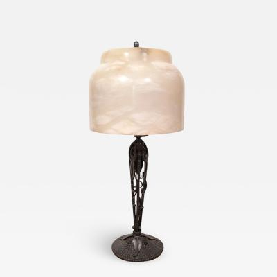 Edgar Brandt Art Deco Table Lamp by EDGAR BRANDT