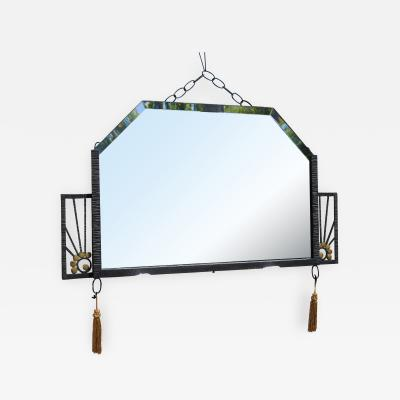 Edgar Brandt Deco Mirror in the style of Edgar Brandt
