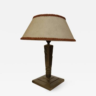 Edgar Brandt Lamp by Edgar Brandt circa 1925 1930