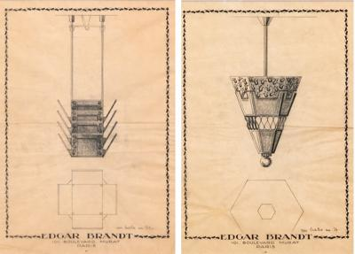 Edgar Brandt Pair of Edgar Brandt drawings