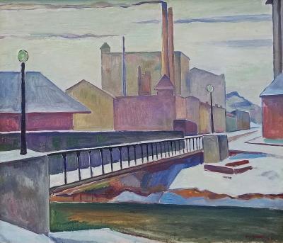 Edgar Hewitt Nye Factories with Bridge