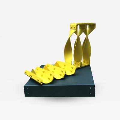 Edgard Negret Carabela Yellow Metal Modern Sculpture