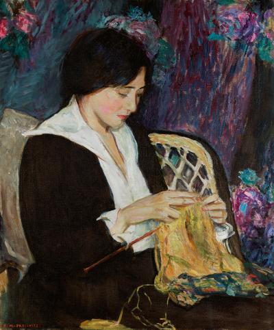 Edith Mitchill Prellwitz Woman Knitting