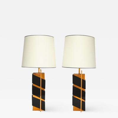 Edith Norton Unique Pair of Modernist Table Lamps by Edith Norton
