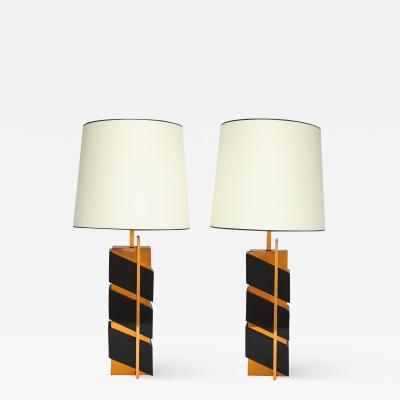 Edith Norton Unique Pair of Modernist Table Lamps by Edith Norton