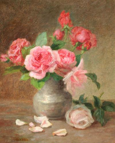 Edith White Pink Roses