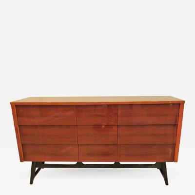 Edmond Spence American Modern Mahogany and Ebonized Nine Drawer Chest