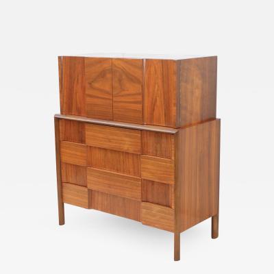 Edmond Spence Edmond J Spence Mid Century Modern Walnut Highboy Dresser