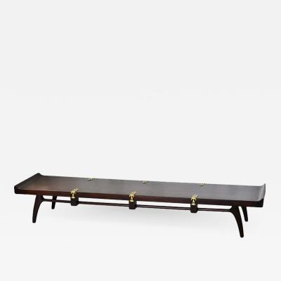 Edmond Spence Edmond Spence Mahogany Coffee Table for Industria Mueblara Mexico 1953