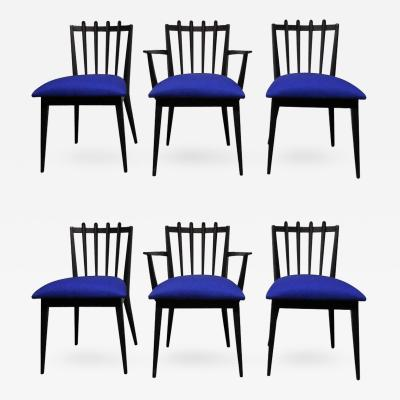 Edmond Spence Midcentury Swedish Dining Chairs by Edmond Spence Set of Six