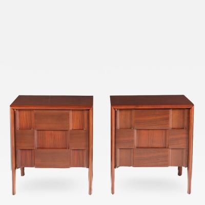 Edmond Spence Pair of Checkerboard Night Stands by Edmond Spence