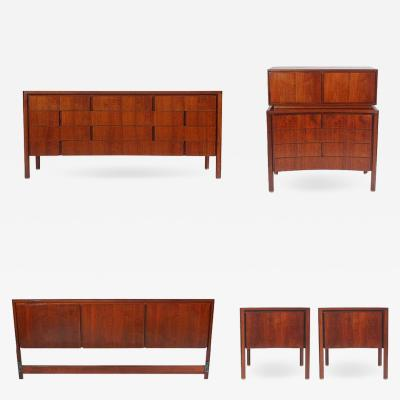 Edmond Spence Swedish Mid Century Modern King Size Bedroom Set by Edmond Spence in Walnut