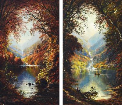 Edmund Darch Lewis Glen Ellis Fall Summer Diptych