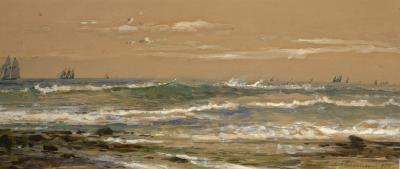 Edmund Darch Lewis Sailing off the Coast