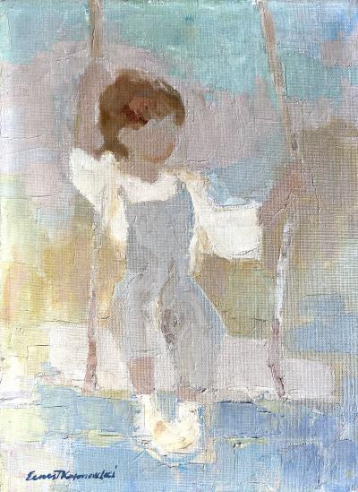 Edmund Ernest Kosmowski Child on a Swing