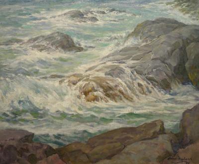 Edmund Franklin Ward Heavy Surf Off Monhegan