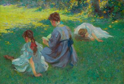Edmund Marion Ashe On the Lawn 1908