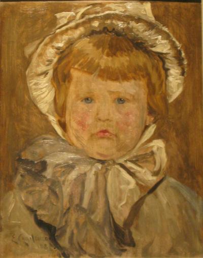 Edouard Charlemont A Little Boy with Bonnet