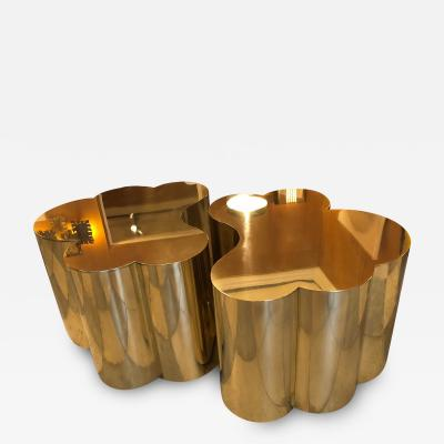 Edouard De La Marque Twin Tables brass coffee table Design by Edouard De La Marque France