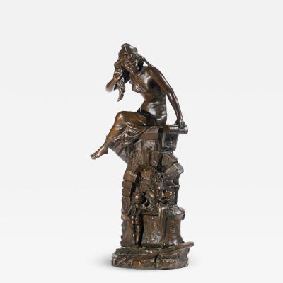 Edouard Drouot A Fine Quality Patinated Bronze Sculpture Entitled Le Secret