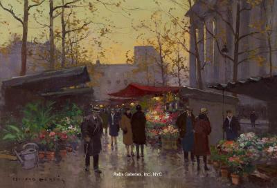 Edouard Leon Cortes Marche aux Fleurs Madeleine