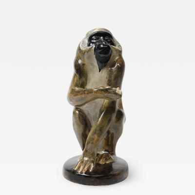 Eduard Klablena Eduard Klablena Ape Sculpture 1925 Austria