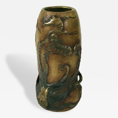 Eduard Stellmacher Austrian Art Nouveau Octopus Vase by Stellmacher for Amphora 1901 1902