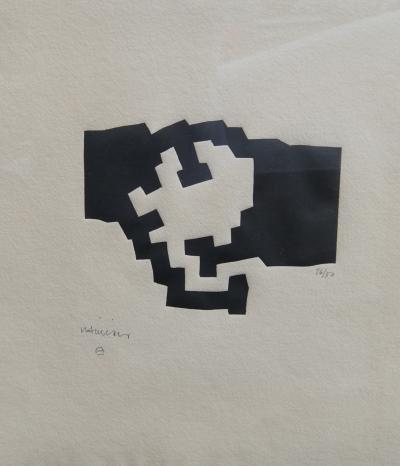 Eduardo Chillida Framed Abstract Etching by Eduardo Chillida 26 50