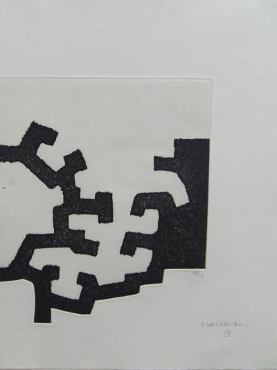 Eduardo Chillida Framed Abstract Etching for Adoracion by Eduardo Chillida 26 35 1977