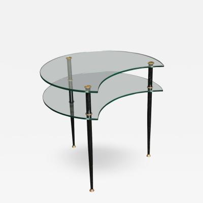 Eduardo Paoli Stylish Side Table made in Italy 1960 by Vitrex designed by Eduardo Paoli