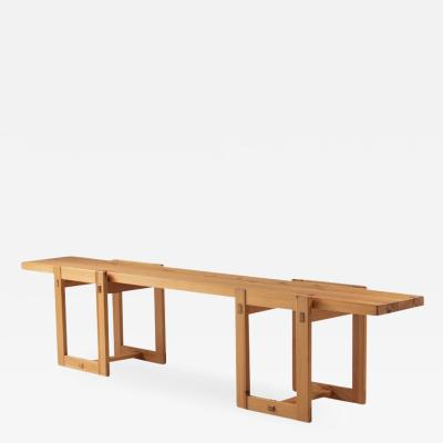 Edvin Helseth Scandinavian Bench in Pine Model Trybo by Edvin Helseth 1960s