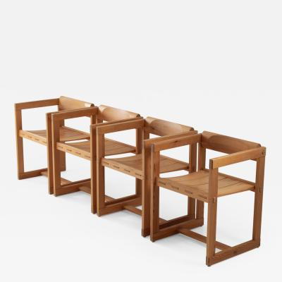 Edvin Helseth Scandinavian Dining Chairs in Pine Model Trybo by Edvin Helseth 1960s