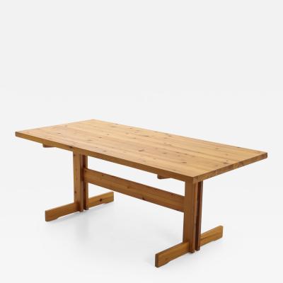 Edvin Helseth Scandinavian Dining Table in Pine Model Trybo by Edvin Helseth 1960s