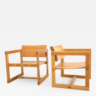 Edvin Helseth Trybo Series Lounge Chairs in Pine by Edvin Helseth