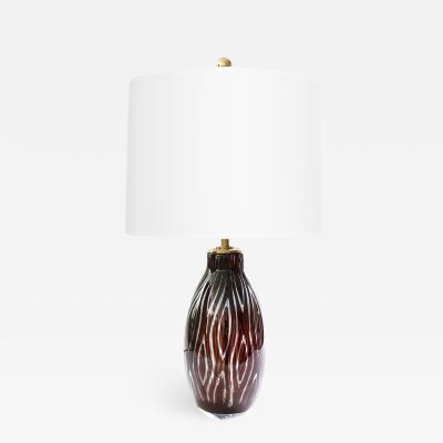 Edvin Ohrstr m SCANDINAVIAN MODERN ARIEL GLASS LAMP BY EDVIN OHRSTROM ORREFORS