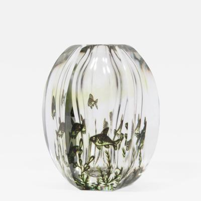 Edvin Ohrstr m Six Sided Fish Graal Art Glass Vase by Edvin Ohrstrom