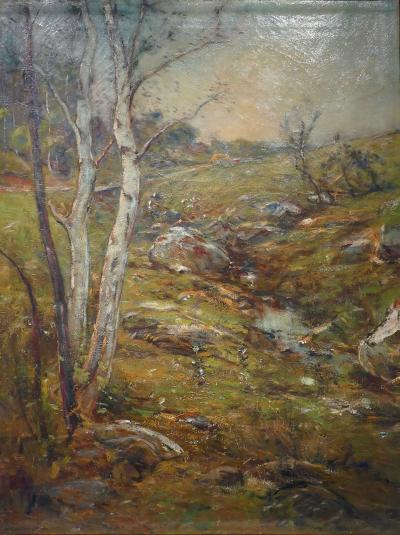 Edward B Gay PASTORAL LANDSCAPE Dated 1905 by EDWARD B GAY N A