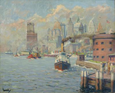 Edward Cucuel The Gateway to America from Governors Island
