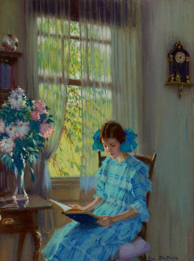Edward Dufner Margaret by the Window 1915