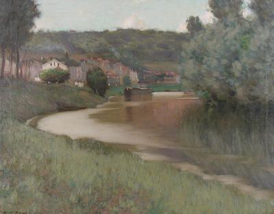 Edward Dufner River Scene