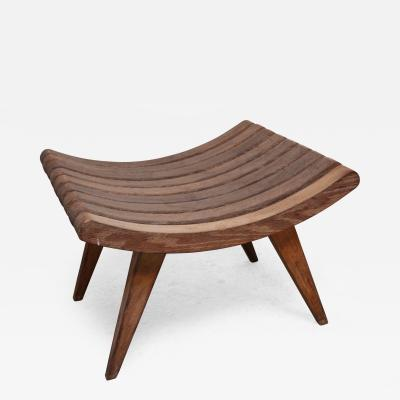 Edward Durell Stone Oak Bench by Edward Durell Stone for Fulbright Furniture