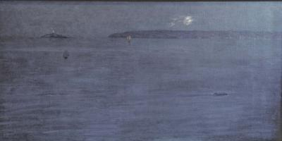 Edward Emerson Simmons Early Moonrise over St Ives Bay