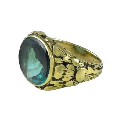 Edward Everett Oakes Oakes Studios Gold Ring with Tourmaline