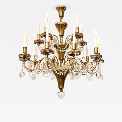 Edward F Caldwell Co A Caldwell 2 Tiered 15 Light Chandelier